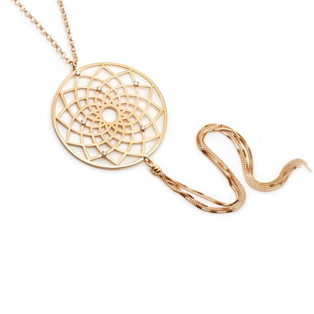 Thais Bernardes gold-plated detail